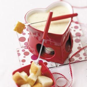 Simple Swiss Cheese Fondue Recipe from Taste of Home -- shared by Tracy Lawson of Farr West, Utah