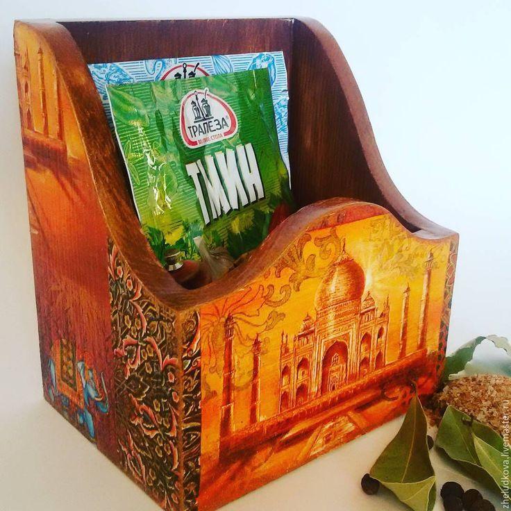 """Купить Короб для специй """"Сокровища Индии"""" - комбинированный, пряности, короб для специй, индия, индийский слон"""