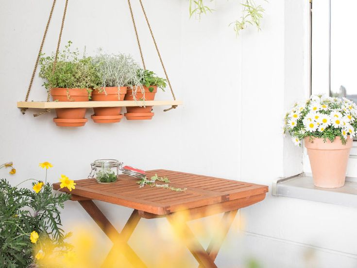 DIY instruction: Hanging herb garden self build via DaWanda.com