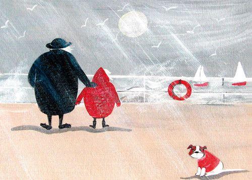 'Blustery Day' By Artists Jennifer Verny-Franks. Blank Art Cards By Green Pebble. www.greenpebble.co.uk