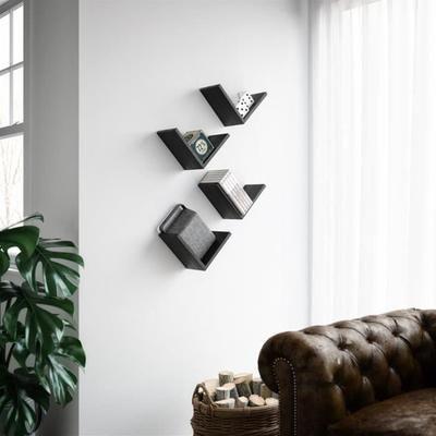 """Mobilifiver Set de 4 étagères en """"V"""", Giuditta, en Mélaminé, Frêne Blanc, 25 x 15 x 25 cm, Mélaminé, Made in Italy - Achat / Vente meuble étagère Set de 4 Étagères en mélaminé - Cdiscount"""