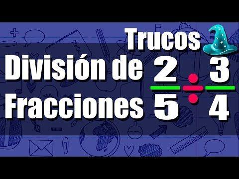 Como Dividir Fracciones Rápidamente  Truco  - YouTube