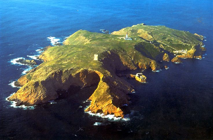 Trip to Berlengas[FULL]   ESN Porto. Ariel view of lighthouse on Berlengas island, off the coast of Portugal