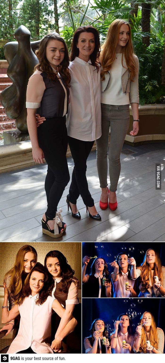 Game of Thrones - the Stark women.  Maisie Williams, Michelle Fairly, Sophia Turner.