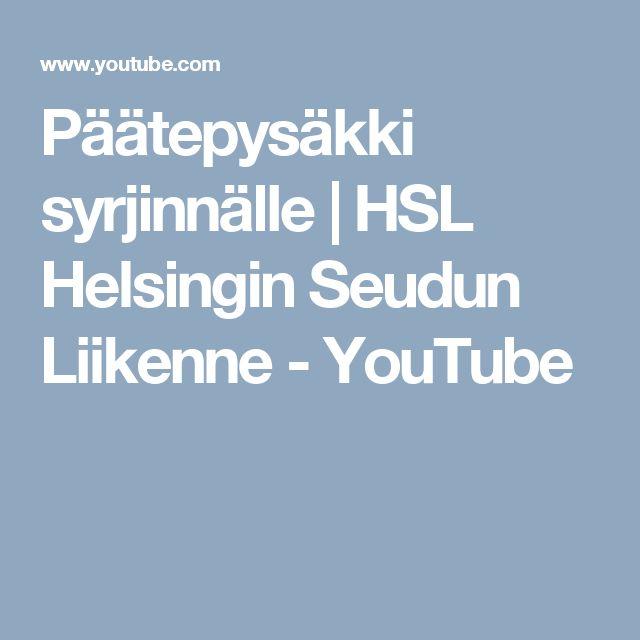 Päätepysäkki syrjinnälle   HSL Helsingin Seudun Liikenne - YouTube