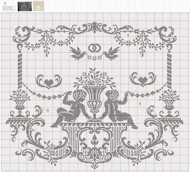 Альбом  Ангелочки крючок филе схема 17