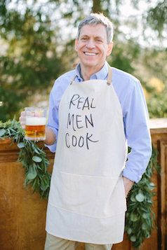 Love this real men cook apron