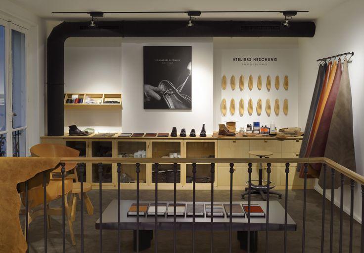 8 best heschung flagship images on pinterest showroom design saint germain and boutique. Black Bedroom Furniture Sets. Home Design Ideas