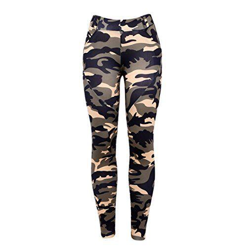 ❤️Leggings Femmes Pantalon de Yoga, Amlaiworld High Taille Sport Gym Yoga Running Leggings Fitness Pantalons Camouflage Pantalon Athlétique…