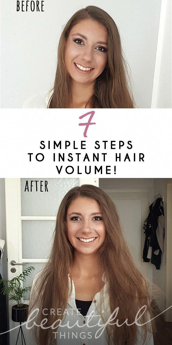 Tutorial for instant hair volume. DIY Tips and Tricks to do at home. How to get instant volume in short, long, wavy and straight hair. Perfect for thi...