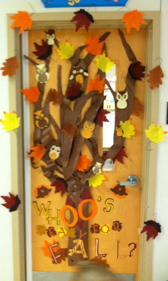 Fall School Door