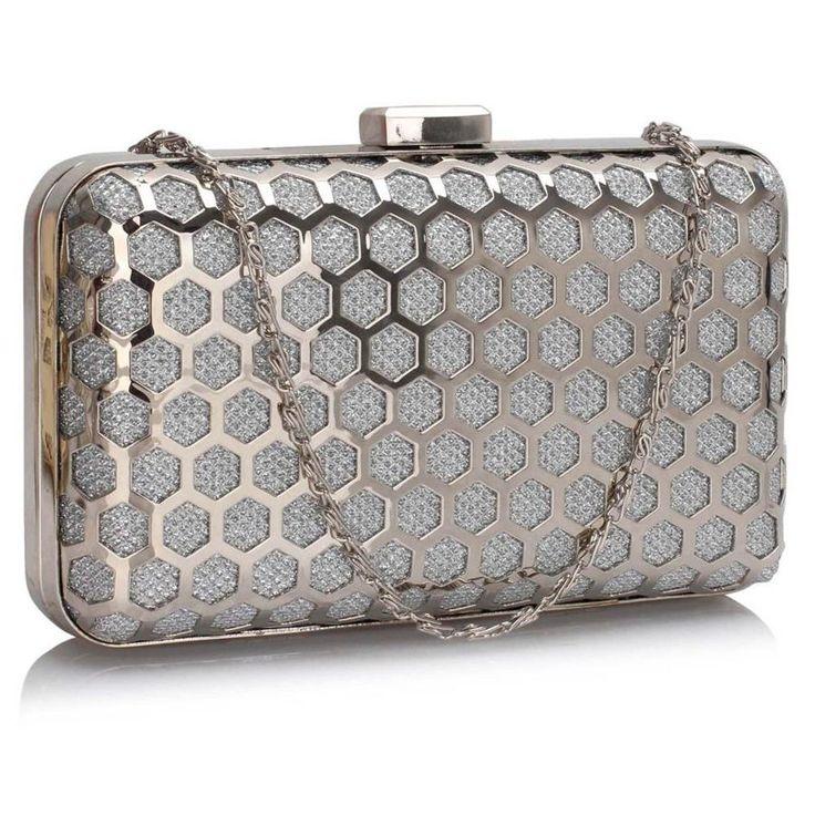 Srebrna szkatułka torebka wizytowa srebrny | Sklep internetowy Evangarda.pl