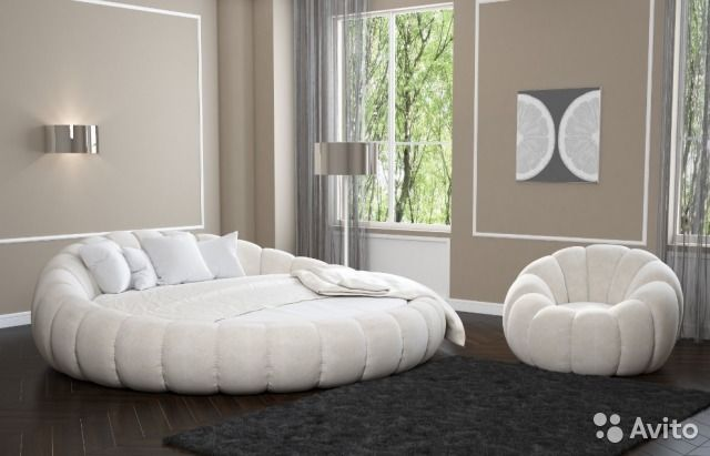 Кровать круглая berta 210см