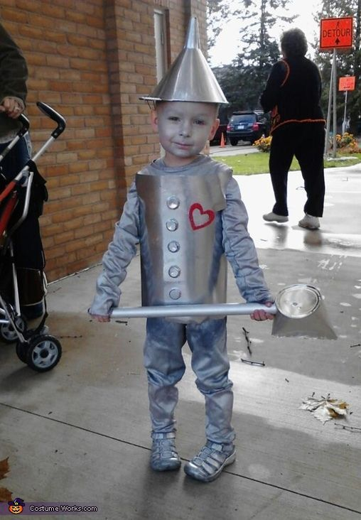Tin Man DIY Halloween Costume for kids