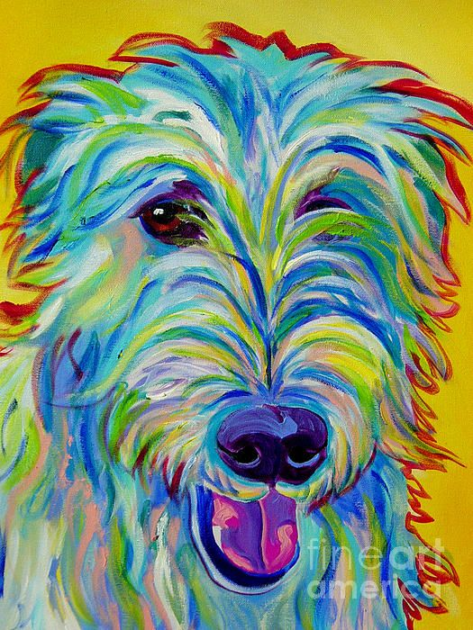 Irish Wolfhound - Angus Painting by Alicia VanNoy Call - Irish Wolfhound - Angus Fine Art Prints and Posters for Sale