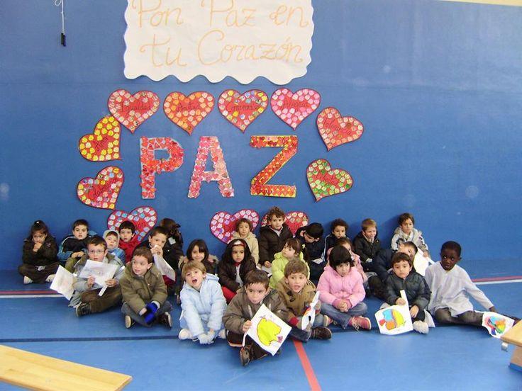 Cartel de la paz: Pon Paz en tu Corazón