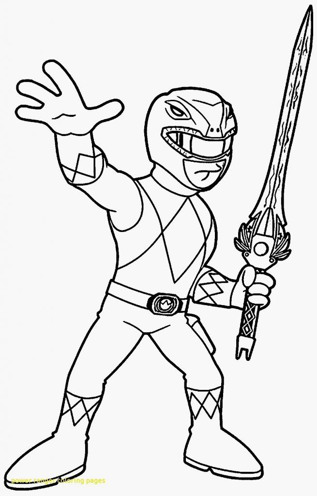 Coloriage Power Rangers Dino Super Charge Cool Kick Power