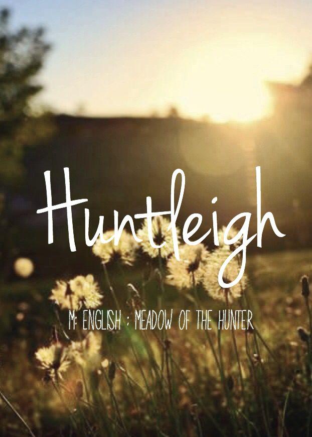 Huntleigh - beautiful baby girl name! Pronounced: Hunt-Lee or Hunt-Lay