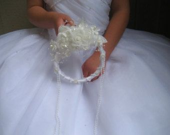 Butterfly Wedding Accessories : Flower Girl Wreath by All4Brides