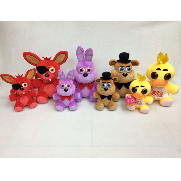 ==> [Free Shipping] Buy Best Christmas Toy Gift Five Nights At Freddys Stuffed Toys 12inch Red Fox Purple Rabbit Brown Bear Yellow Chicken Model Plush Doll Online with LOWEST Price | 32749587772