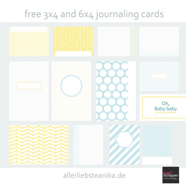 oh baby free project life journaling card kit   [ One Velvet Morning ]