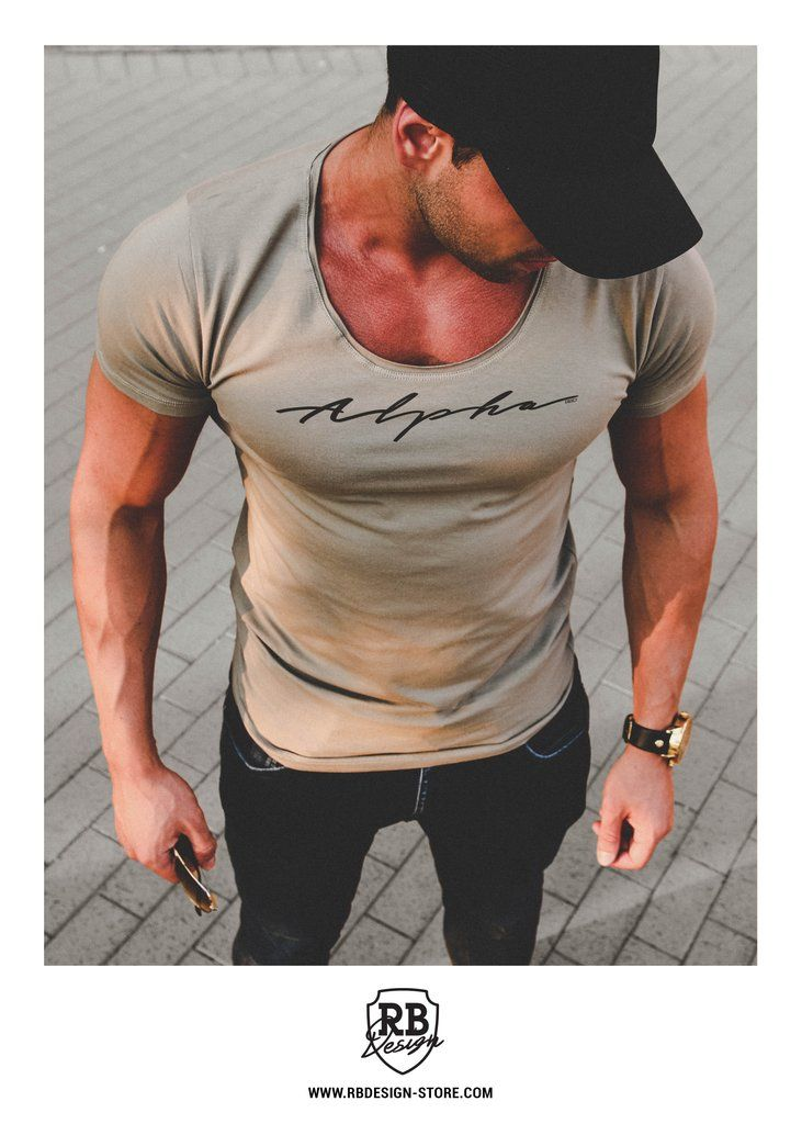Alpha Casual Men S T Shirt Muscle Fit Color Option Md885
