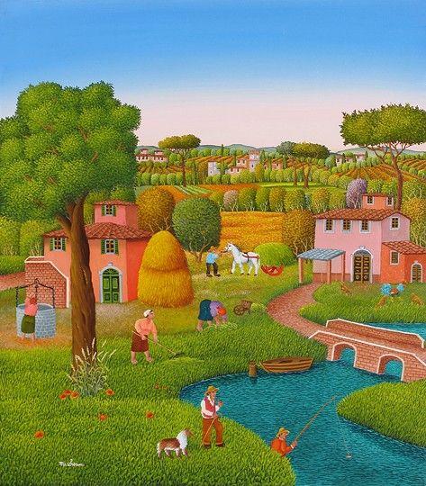Il pescatore  by Cesare Marchesini of Italy