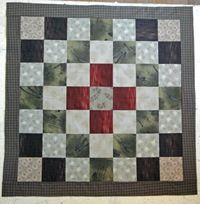 this layout (pic 1) -- yields this twister quilt >>