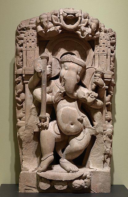 Indian, Madhya Pradesh, Dancing Ganesha, 800-900 CE, Mount Holyoke College Art Museum, MH 1996.3