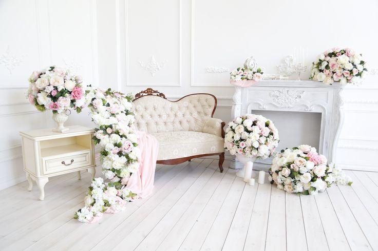 Весенний фотопроект утро невесты от AnisDecor.  Декорации в фотостудии Richstudio