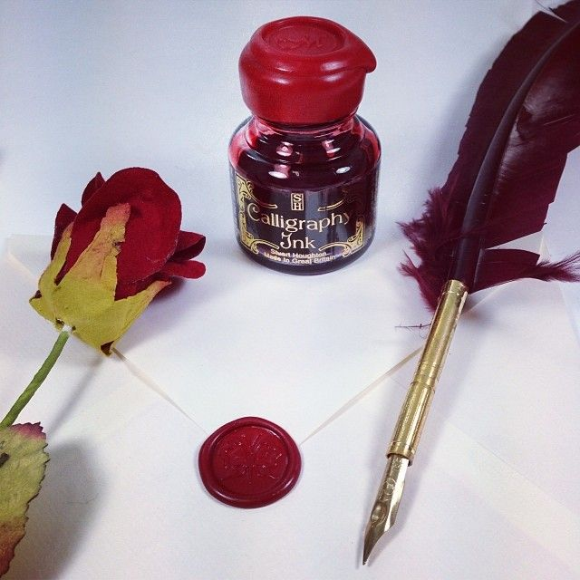 Write the perfect love letter! #valentines #valentinesday #quill #ink