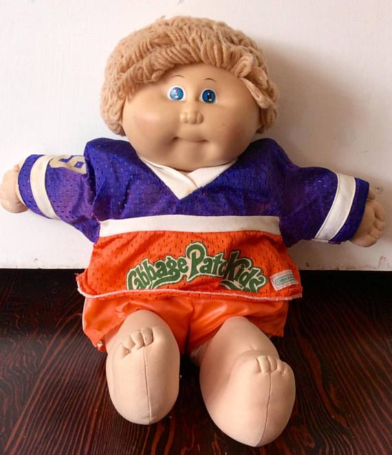 1985 Cabbage Patch Kid Football Player Boy Ic1 Cpk Coleco Etsy Cabbage Patch Kids Patch Kids Football Kids