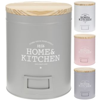 Банка для хранения продуктов с крышкой 13*18см Home and Kitchen, mix