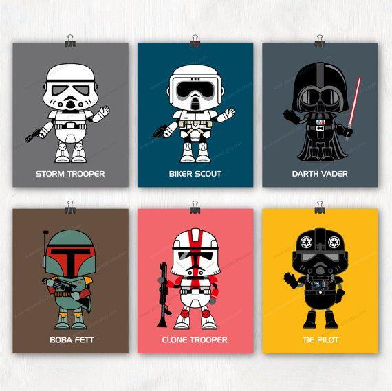 Nursery Art Print. Star Wars Poster Darth Vader by waiwaiartprints