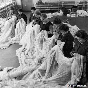 1959 Lace makers, Nottingham.