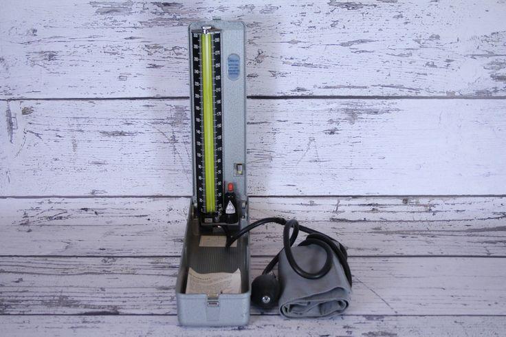 Vintage Silver Lumiscope Mercurial Sphygmo Manometer Certified Blood Pressure Unit Set Cuff Case Pump Manual Machine by BrooklynBornFinds on Etsy