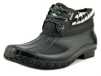Bass Dorothy Women Round Toe Synthetic Black Rain Boot.