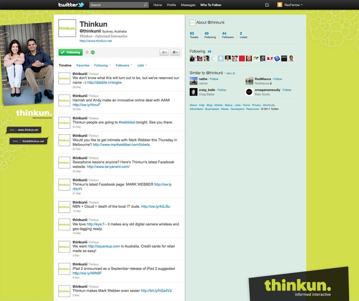 Thinkun Twitter page