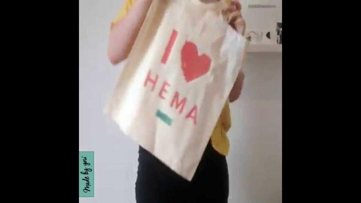 I love HEMA linnen tas. Zelf zo'n leuke linnen tas maken? Download de transfer hier: goo.gl/QwJ735 en print deze op transferpapier (hier te koop: goo.gl/ONdCs9)