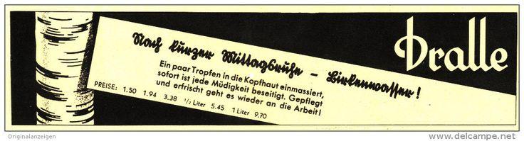 Original-Werbung/ Anzeige 1937 - DRALLE HAARWASSER  - ca. 220 x 55  mm