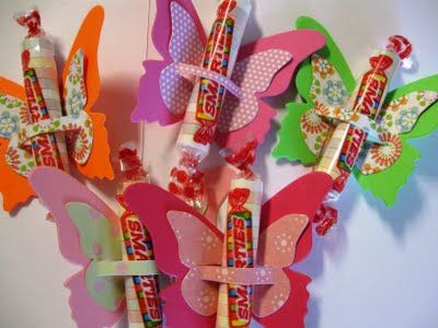 Summer Bright Butterfly Smartie Party Favors