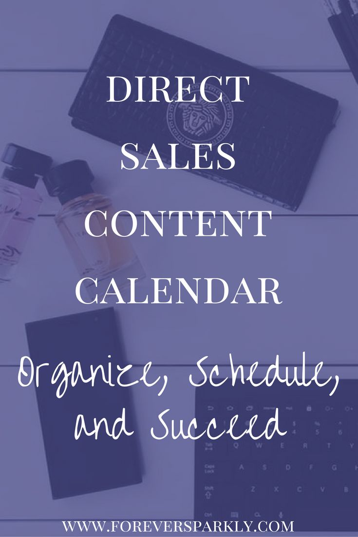 Trying to keep up with your social media posts and grow your direct sales business? You need a direct sales content calendar. Read how to create your own! via @owlandforever