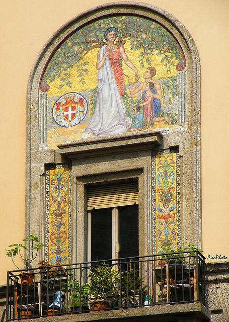 balcony in Milan