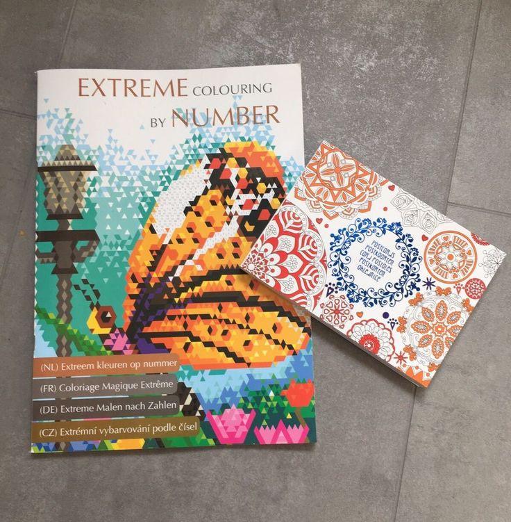 2x Malbuch Mandala Malen nach Zahlen Extrem Erwachsene Stift Malen Geschenk Buch  | eBay