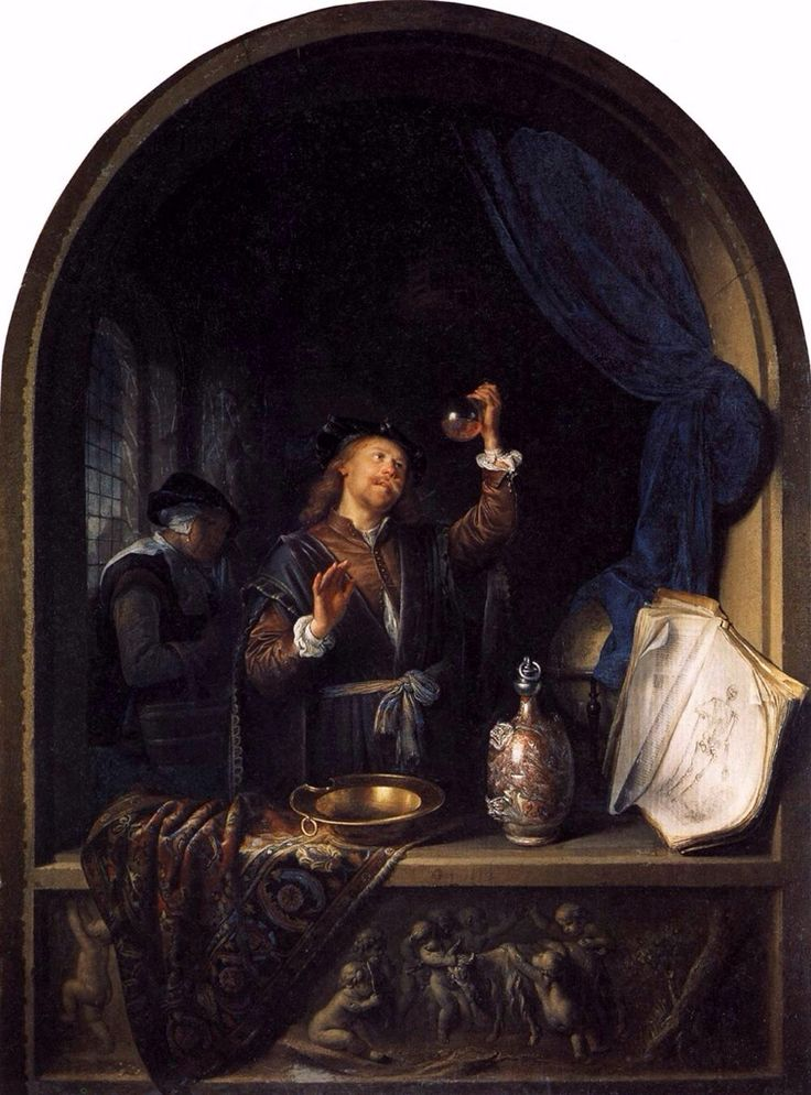 The Physician by Gerrit Dou 1653. Kunsthistorisches Museum, Vienna. Photo Wikipedia