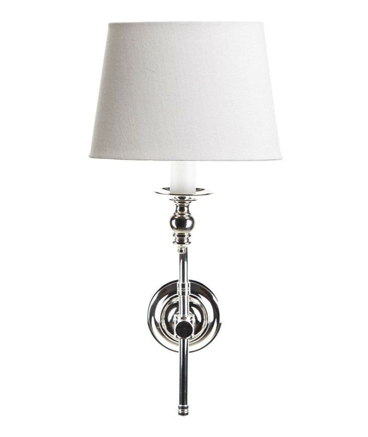 Soho Wall Lamp - Polished Nickel   Shade Included – Magins Lighting