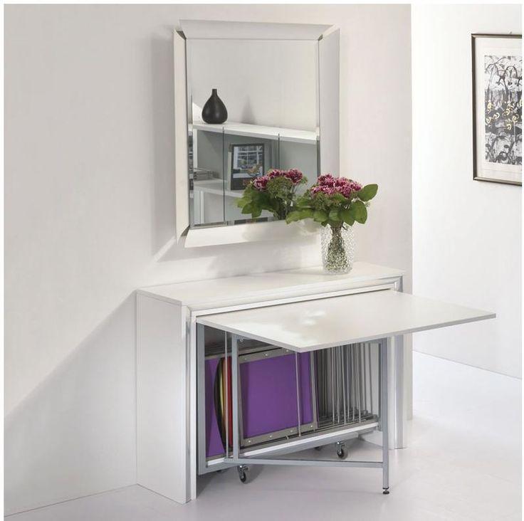 Tavolo chiudibile con portasedie laminato con ruote cornice Laminata 172x92x73h Archimede | Pezzani srl | Stilcasa.Net: sedie