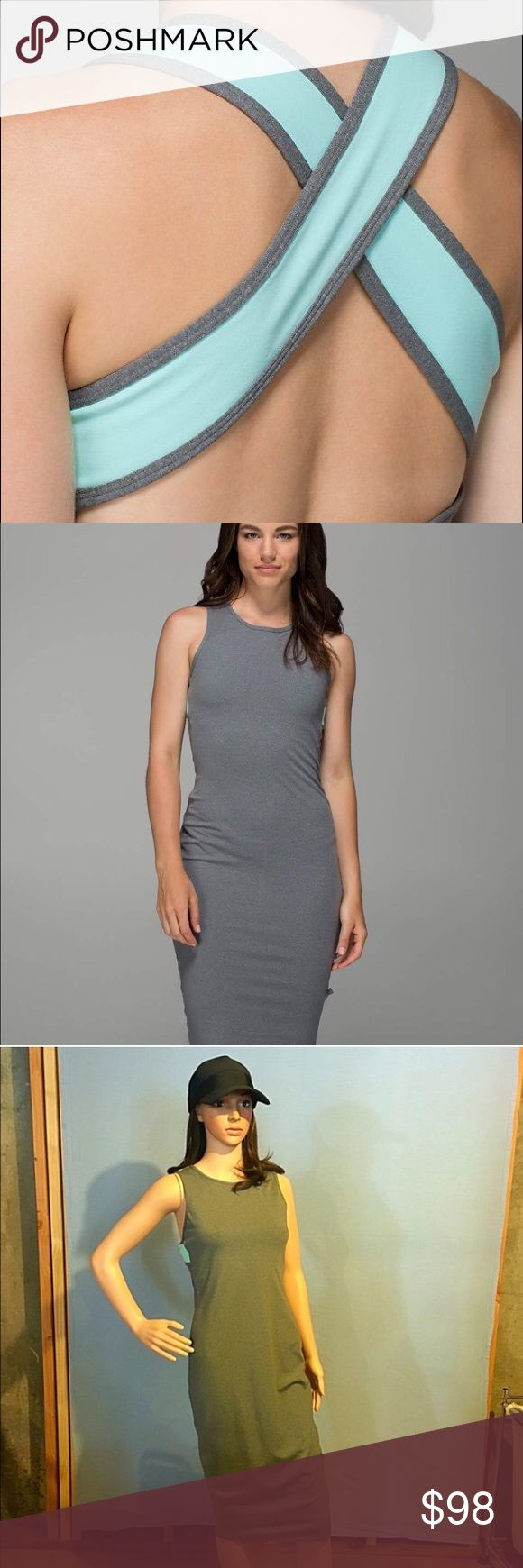 Lululemon Picnic Play Dress Authentic Lululemon This dress is amazingly sporty & sexy!! Go from day into evening in this slim fitting soft stretchy dress with sweat wicking material. This dress is essential to every closet. You will turn heads in this beautiful cross back detailed dress with soft blue accents.💌Thank You for your Interest!!😘 ❌NO Trades❌ 💲Price FIRM, Use the Bundle Discount: 4️⃣Items=20%OFF!! ✨Can't find 4️⃣you like? Make you a custom BUNDLE. lululemon athletica Dresses…