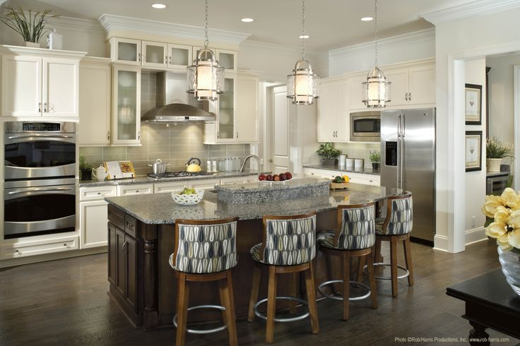 pendant lighting over kitchen island the perfect amount of. Black Bedroom Furniture Sets. Home Design Ideas