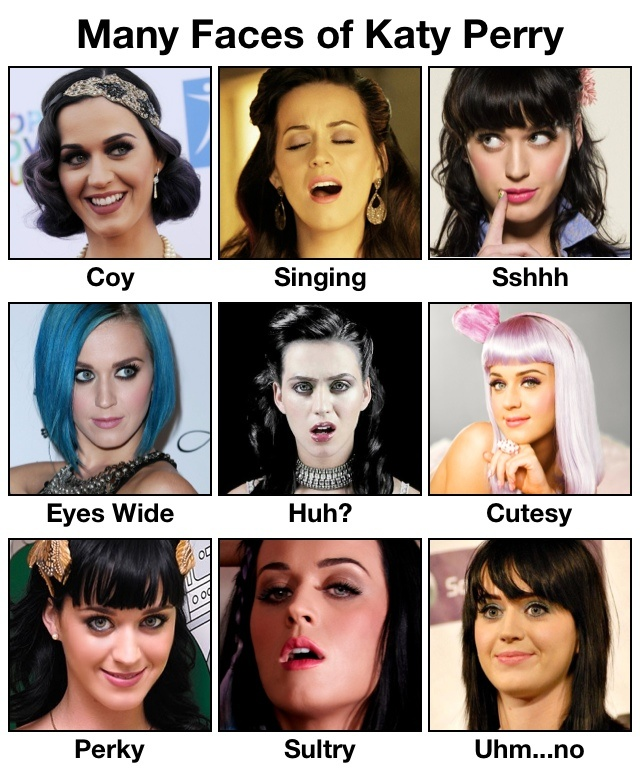 Many Faces of Katy Perry